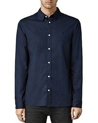 Allsaints Redondo Slim Fit Button Down Shirt Ink