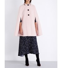 Roksanda Ilincic Raglan Sleeve Wool Cape Blush