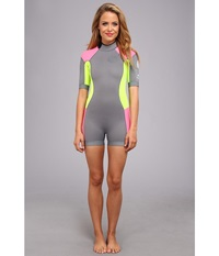 Rip Curl Dawn Patrol 2Mm S S Spring Suit Grey Women's Wetsuits One Piece Gray
