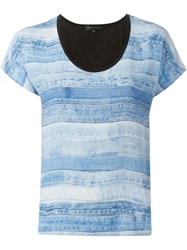 Barbara Bui Denim Print T Shirt