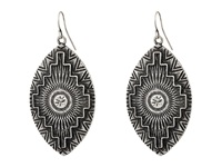 Gypsy Soule Aztec Etched Tear Drop Earrings Silver Earring