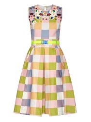 Preen Line Ivy Embroidered Cotton Blend Dress