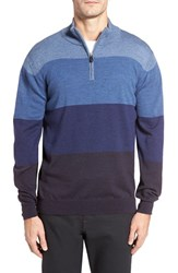 Bugatchi Men's Quarter Zip Wool Sweater