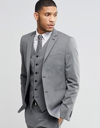 Asos Slim Suit Jacket In Mid Grey Mid Grey