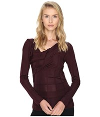 Vivienne Westwood Long Sleeve Priestess Top Bordeaux Women's Clothing Burgundy