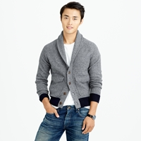 J.Crew Wallace And Barnes Boiled Wool Sweater Jacket