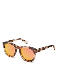 Wildfox Couture Wildfox Classic Fox Wayfarer Mirror Sunglasses Brown Pink Mirror
