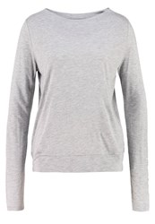 Opus Sophie Long Sleeved Top Light Grey Silver
