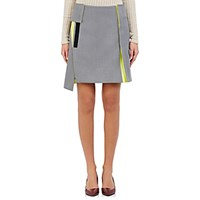 Paco Rabanne Women's Hook And Loop Embellished Miniskirt Light Grey
