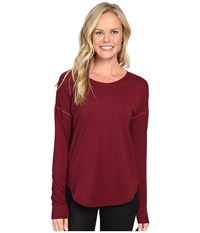 Lucy Final Rep Long Sleeve Top Beet Red Black Heather Women's Long Sleeve Pullover