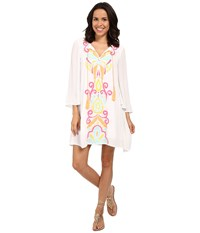 Lilly Pulitzer Ellie Tunic Dress Multi Too Much Bubbly Women's Dress White