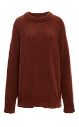 Tibi Mohair Tunic Pullover Brown