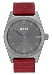 Neff Nightly Watch Gunmetal Maroon Bordeaux