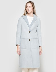 Apiece Apart Las Nubes Shearling Coat Sky Blue