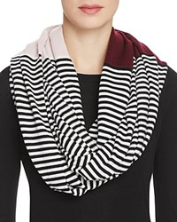 Kate Spade New York Color Block Striped Infinity Scarf Midnight Wine