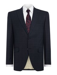 Corsivo Marciano Sb2 Check Suit Jacket With Peak Lapel Navy