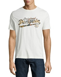 Penguin Short Sleeve Camo Jersey Tee White