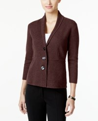Alfani Petite Shawl Collar Blazer Only At Macy's New Wine