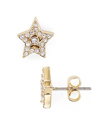 Marc Jacobs Tiny Pave Star Stud Earrings Crystal Gold