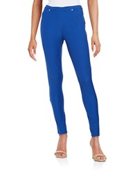 Michael Michael Kors Petite Cotton Stretch Knit Leggings Blue