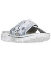 Skechers Women's Gowalk 3 Fiji Slide Sandals From Finish Line White Grey