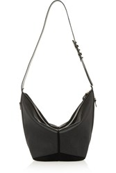 Jerome Dreyfuss Abel Textured Leather And Suede Tote Black