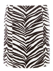 Dorothy Perkins Faux Pony Skin Zebra Skin Mini Skirt Black
