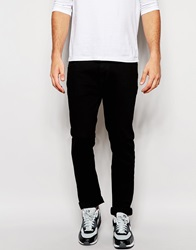 Asos Stretch Straight Jeans In Black