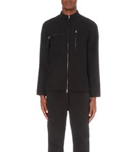 Blood Brother Zip Up Cotton Shirt Blk