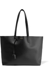 Saint Laurent Shopping Large Textured Leather Tote Black
