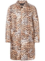 Dresscamp Animal Print Padded Coat Brown