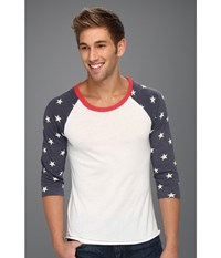 Alternative Apparel Printed Baseball Tee Stars Men's Short Sleeve Pullover Multi