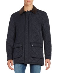 Lauren Ralph Lauren Quilted Weatherproof Raincoat Navy