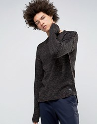 Only And Sons Jumper With Drop Shoulder Hem Deep Mahogony Red