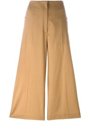 Christophe Lemaire Cropped Trousers Nude Neutrals