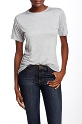 Derek Lam Short Sleeve Crew Neck Ruched Back Tee Gray