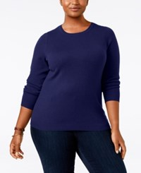 Charter Club Plus Size Cashmere Crewneck Sweater Only At Macy's Wine Frost