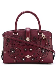 Coach 'Willow Floral Mercer' Tote Pink Purple