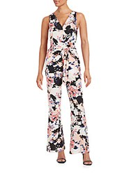 Yumi Kim Floral Belted Jumpsuit Peach