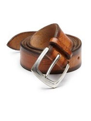 Orciani Distressed Leather Belt Dark Brown Light Brown