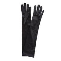 John Lewis Long Satin Evening Gloves Black