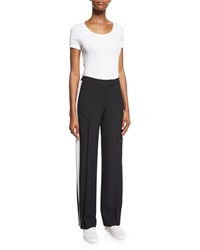 Michael Kors Mid Rise Straight Leg Track Pants Black Women's