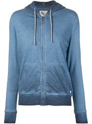 321 Washed Effect Hoodie Blue