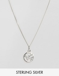 Reclaimed Vintage Taurus Zodiac Sterling Silver Necklace Silver