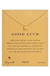 Women's Dogeared 'Reminder Good Luck' Elephant Necklace