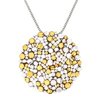 Nina B Large Silver Gold Plated Pendant Necklace Silver