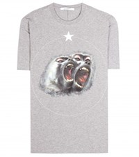 Givenchy Printed Cotton T Shirt Grey