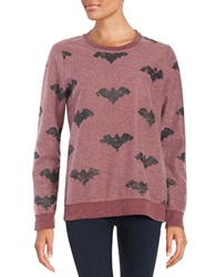 Chaser Bat Fleece Pullover Vino