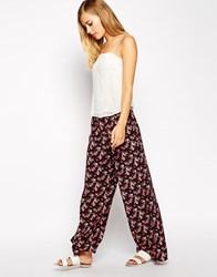 Oasis Wide Leg Ditsy Print Trouser Multi