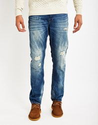 Only And Sons Mens Regular Straight Fitted 5 Pocket Jeans Blue